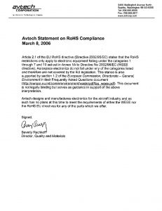 thumbnail of Avtech_ROHS_Compliance