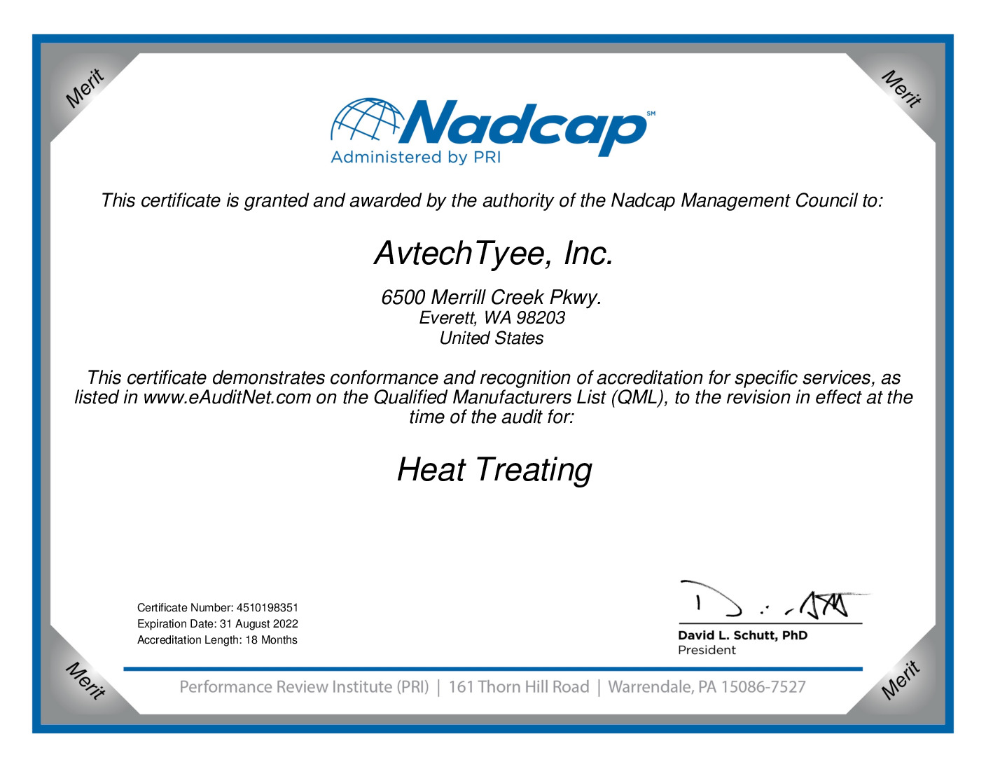 thumbnail of Heat Treat Certificate 2021